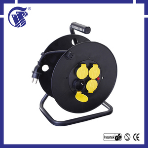 black multifunction 50 meter 3G1.5 wooden cable drum
