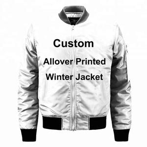 Dropshipping Custom wholesale 100% polyester bomber baseball jacket  woodland winter men jacket
