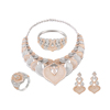 SET-4 Xuping Four-piece ring/earring/necklace/bracelet Environmental Copper big jewelry diamond set+fashion jewelry 2019