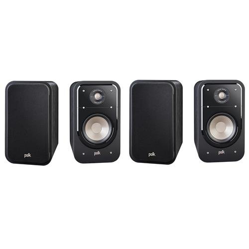 Polk Audio 2 Pairs, Signature Series S20 Large 2-Way American HiFi Home Theater Bookshelf Speaker(4 speakers)