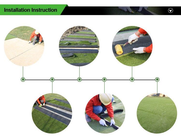 PE Material 50mm green artificial turf for football pitch with CE test