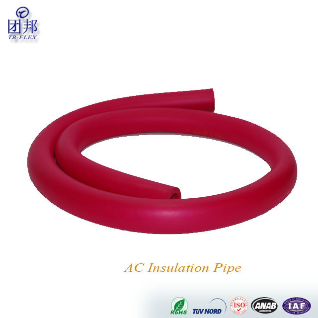 OEM NBR Rubber Foam Pipe Insulation Color Round Foam Tube