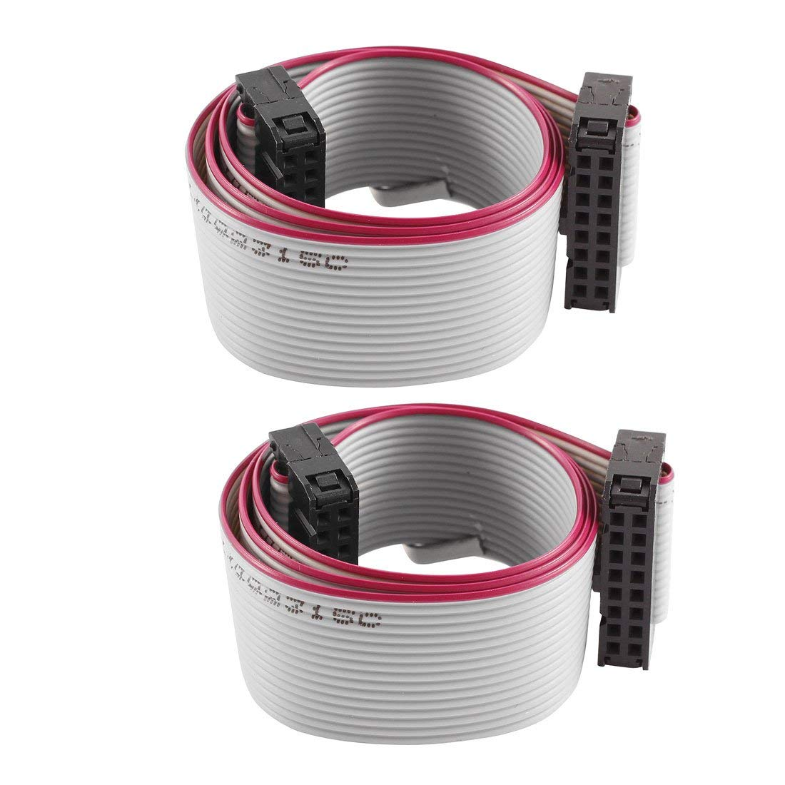 Aexit Hard Drive Bulk Cables 40cm Feamle IDC 16 Pin Extension Flat Ribbon Cable Flat Ribbon Cables 2 Pcs