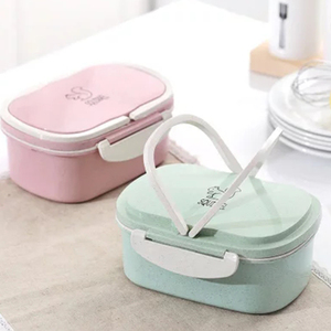 950ml rectangle hot lunch bento box lunch with handle