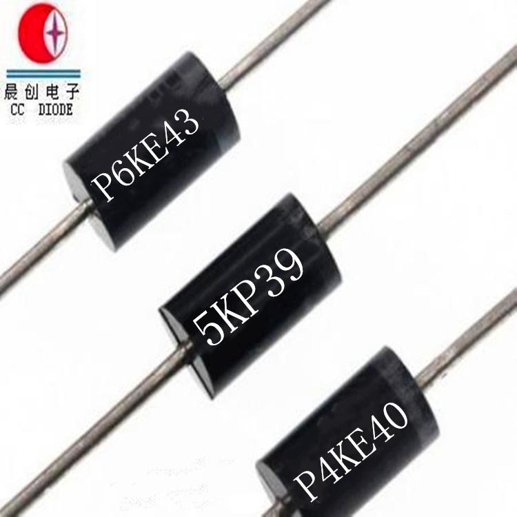 50 pieces Transient Voltage Suppressors 1500W 6.0V Unidirect TVS Diodes
