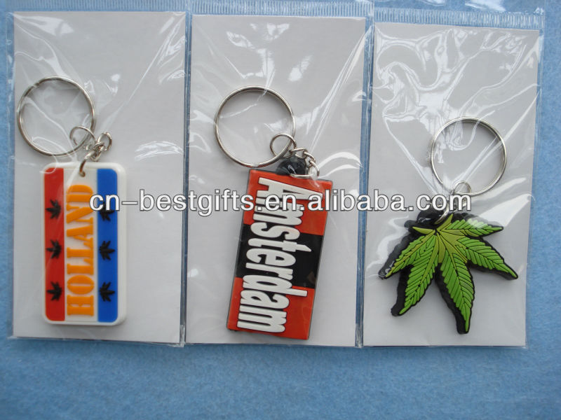 Custom soft pvc rubber keyrings