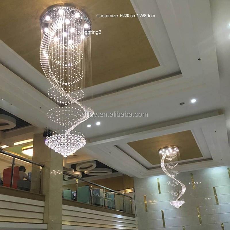 W70 80 90 100 120 cm treppe klarem kristall kronleuchter for Esszimmer leuchte kristall