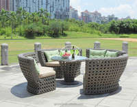 New Bowl shape furniture outdoor use PE rattan dining set