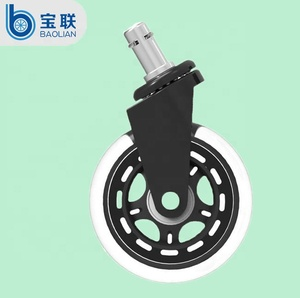 Hot sale Furniture caster 3 inch PU rollerblade office chair wheels