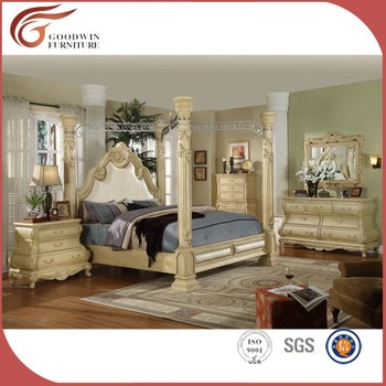 White Hand Carved Italian Classic Canopy Bedroom Set King Queen Bed Wa149 Buy King Size Canopy Bedroom Sets Queen Size Wood Bed Antique White