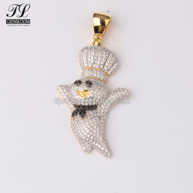 Cartoon diamond pendant source quality cartoon diamond pendant from cartoon little cute king shape hip hop 18 k gold jewelry diamond pure gold pendant aloadofball Images