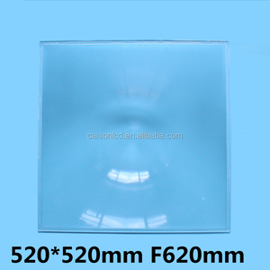 520*520 mm F620mm Fresnel Lens Solar energy collecting lens Temperature of 500 degrees Spot size minimum 20 mm big fresnel lens