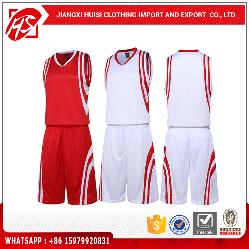 factroy direct sale 100%polyester sport suits best basketball jersey design