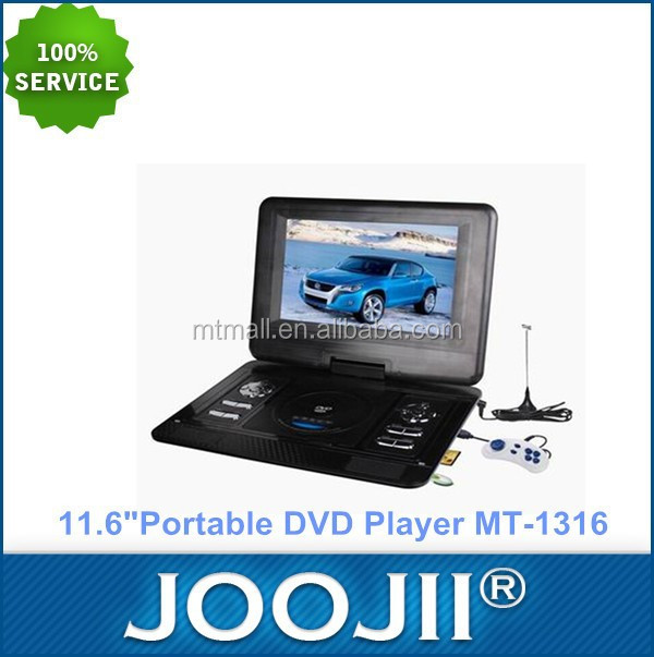 Cheap Portable 11.6inch DVD player with TFT Screen