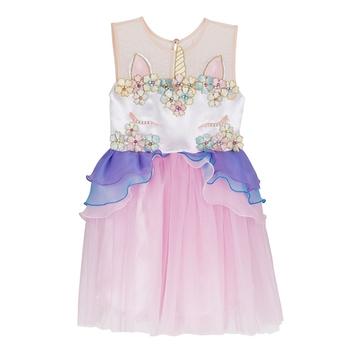 New design girls wholesale boutique clothing unicorn baby girls dresses  unique kids clothes party dress 83760637bd