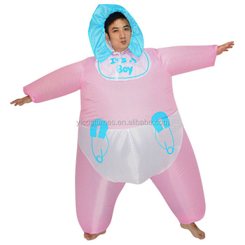 halloween adult funny pretend play infant baby diaper inflatable adult baby costume inflatable costumes for adults