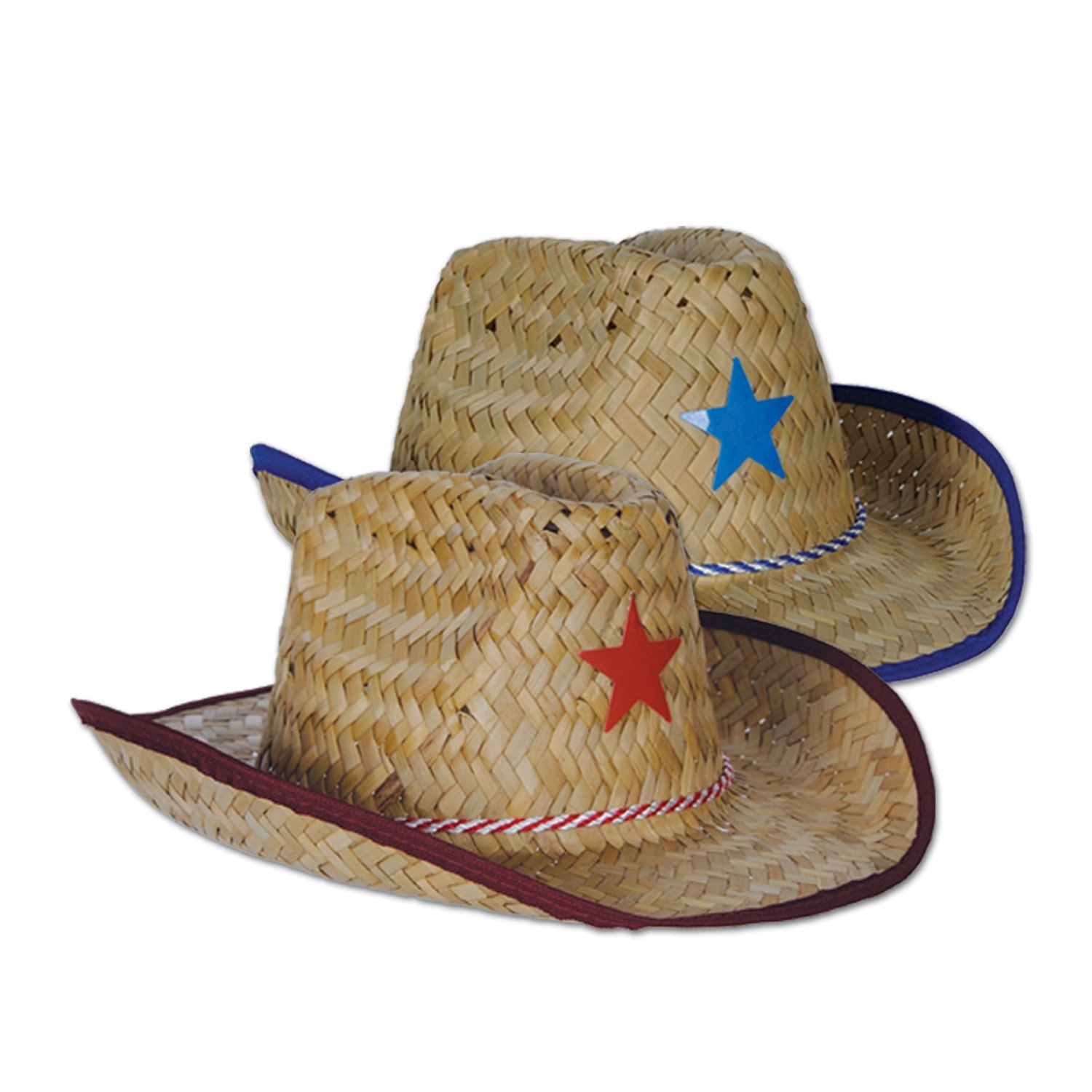 5e3fd811b8dba Get Quotations · Beistle 50160 96-Piece Child Cowboy Hats with Star and  Chin Strap