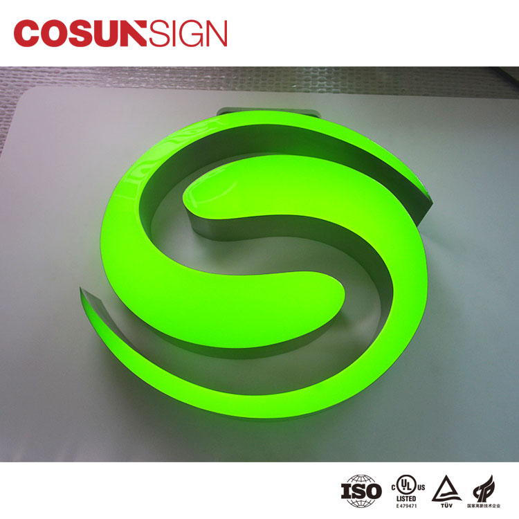 Hot sale promotional bright luminous characters epoxy resin led sign channel letter