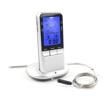 Wireless Digital CookingThermometer with timer Alarm LED back light