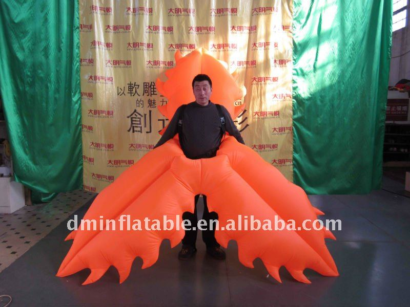 Inflatable flower Moving Costume For Events