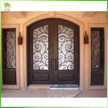 48 Inches Exterior Front Wrought Iron Main Front Door Design With Opening Window Buy Exterior Door With Opening Window Iron Main Door Iron Front Door Design Product On Alibaba Com
