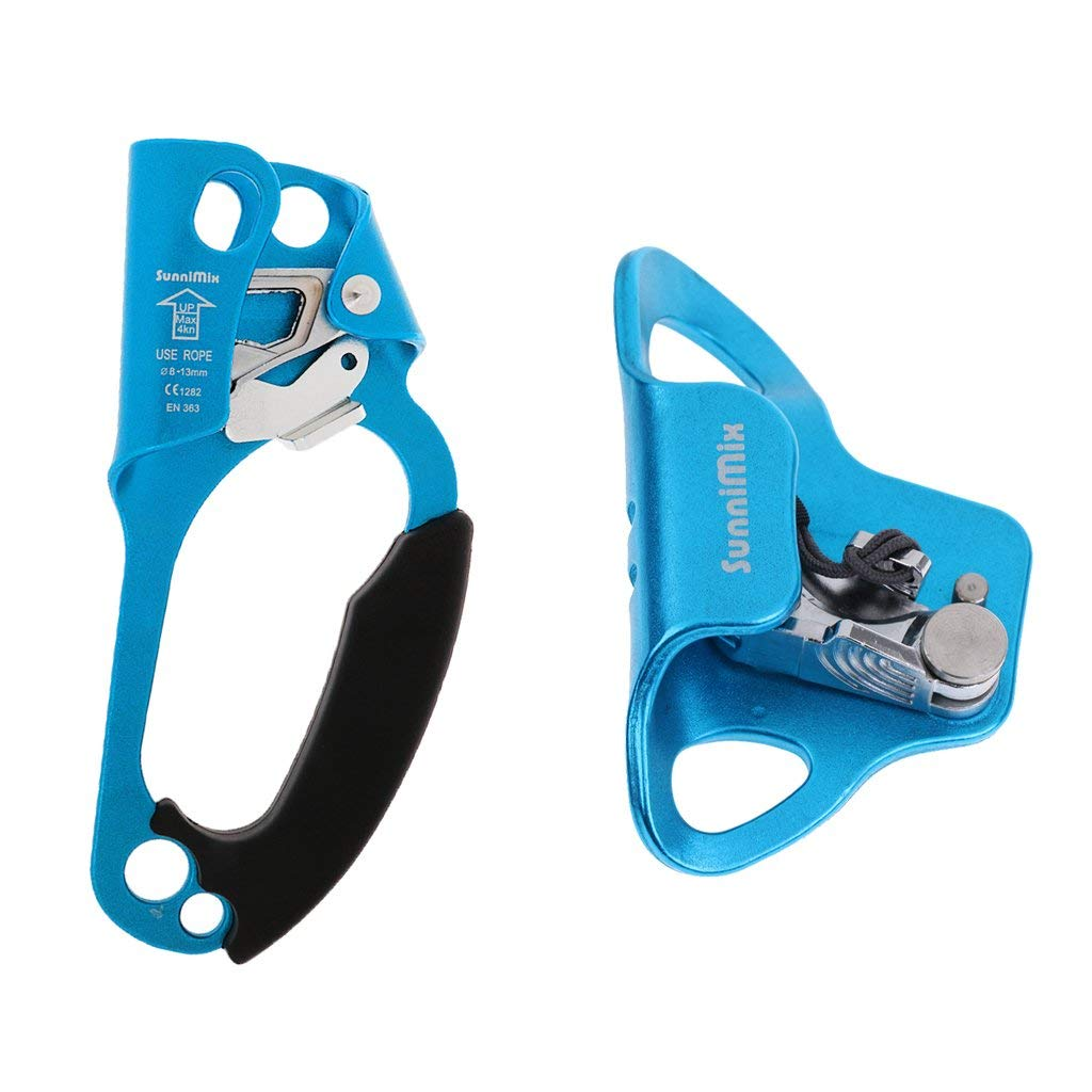 Mountaineering Climbing Chest Descender Ascender Riser Rope Clamp for 8-13mm