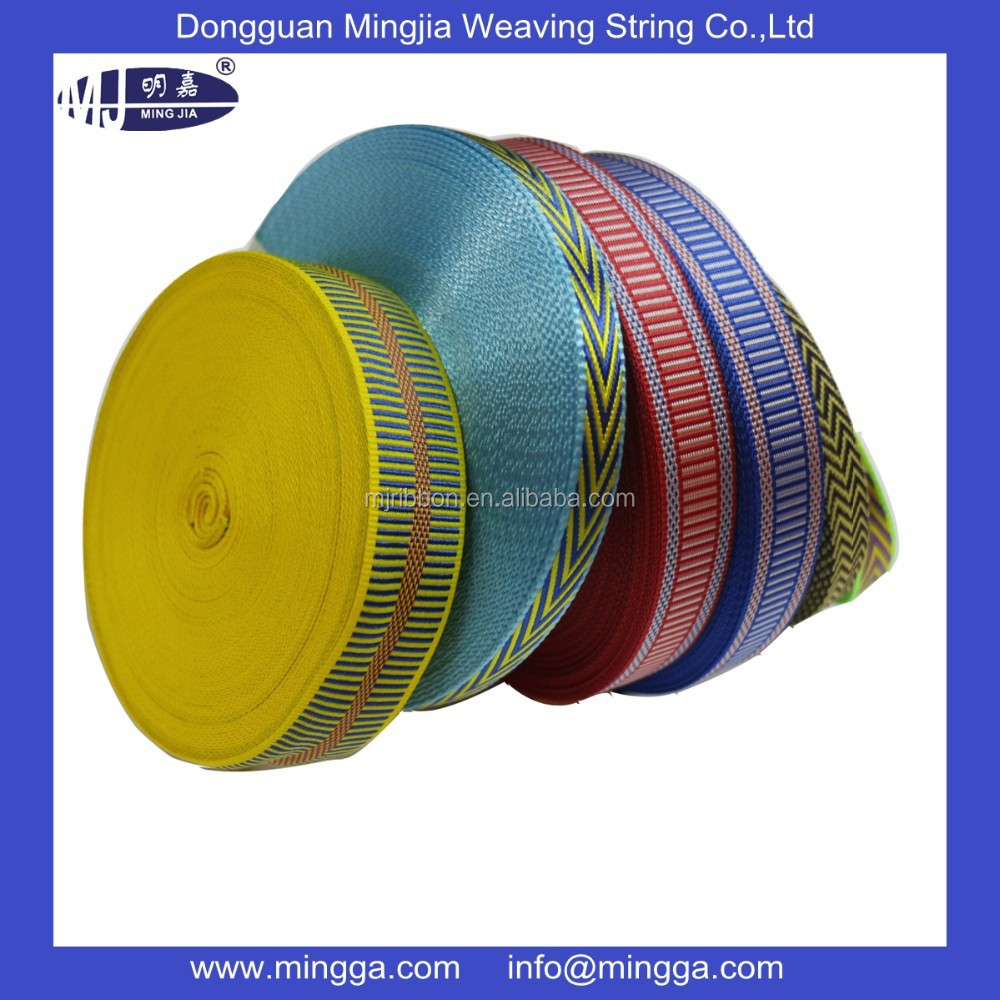 top sell high quality colored flat nylon webbing