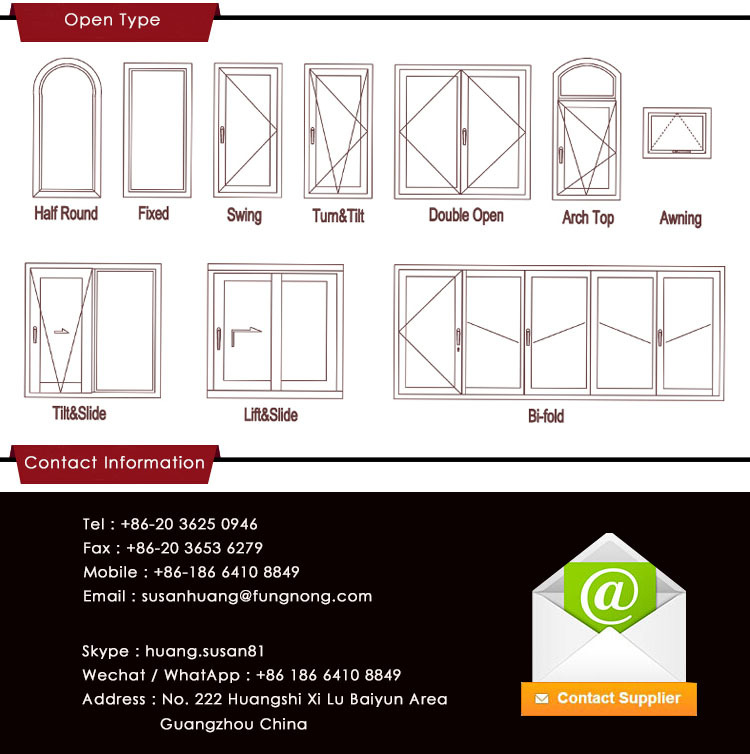 American style large size aluminum up down sliding window for Window width