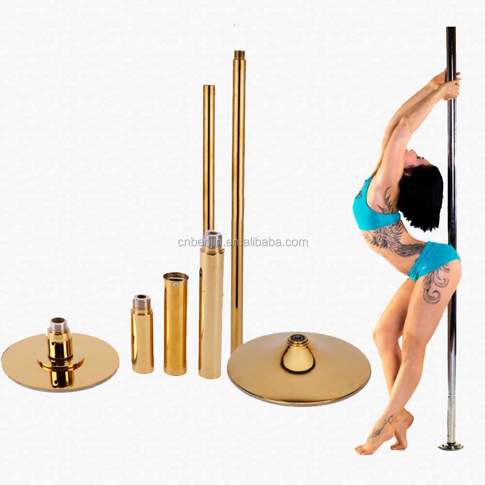 Foldable Dancing Pole Stage with Spinning dancing pole, Round Stage for Dancing Pole