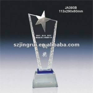 crystal glass awards trophies