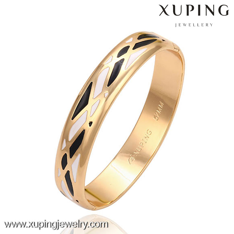 51396 xuping 18k gold elephant charm latest design daily wear bangle