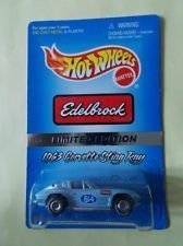 Hot Wheels - Edelbrock - Limited Edition - 1963 Corvette Sting Ray (#614) - 1:64 Scale Collector Car Replica - Light Blue Body Color