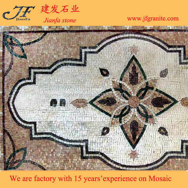 Beautiful free mosaic flower patterns with marble stone