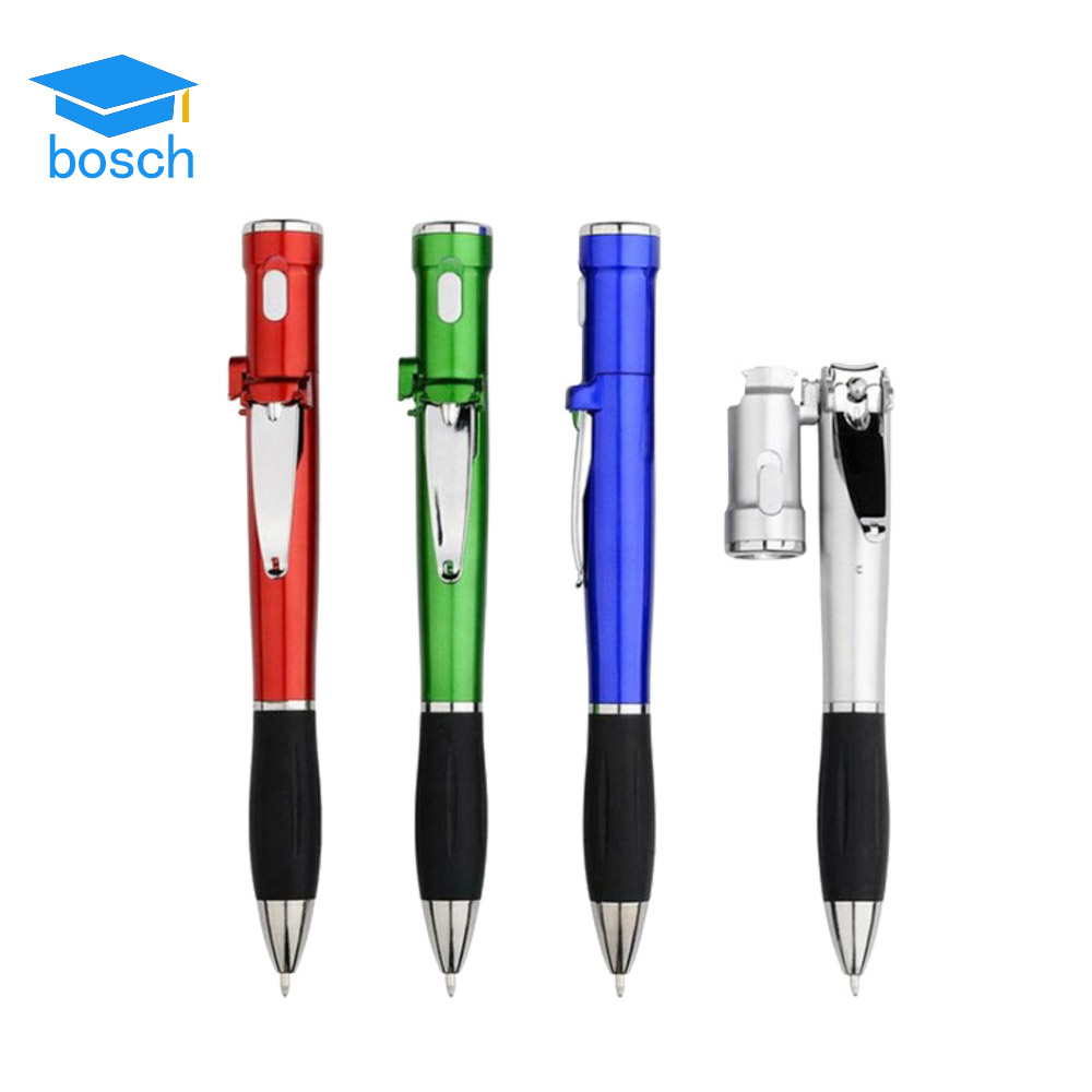 Customized promotional nail scissors light pen with own logo promotional plastic ball pen