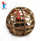 Lamp Puzzle Paper Sculpture Home Display Lamp DIY 3D Led Sculpture Puzzle Cardboard Tabletop Decoration Lamp