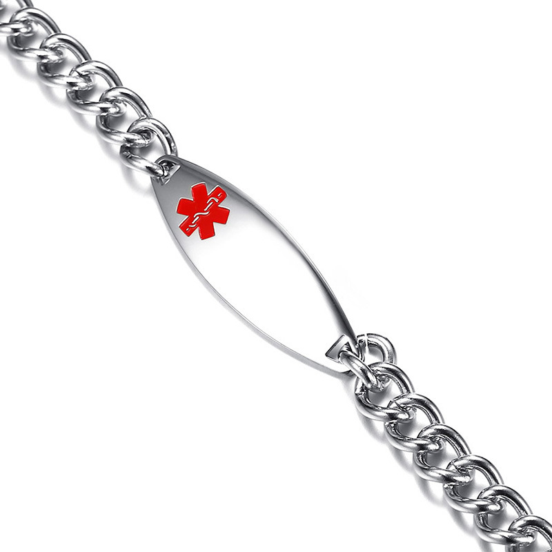 Customized ladies medical bracelet with lobster buckle