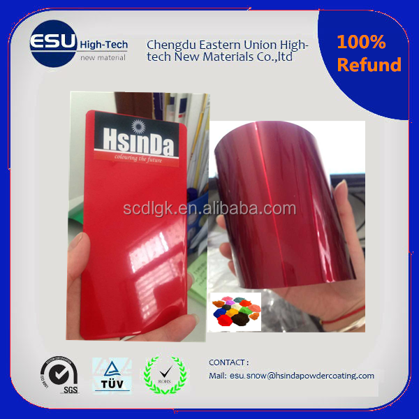 high glossy chrome red candy spray antimicrobial powder coating paint