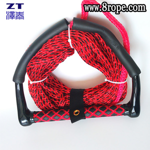 10mm High grade red wakeboard rope, Yacht pull rope