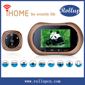 top selling smart home security door peephole camera,wireless electronic peephole,peephole door camer supports Android& IOS app