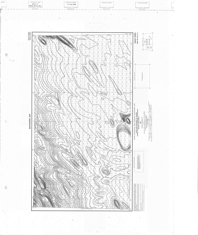 Vintography 24 x 36 Giclee Print Nautical Map Image Walls Knoll 1985 NOAA 92a