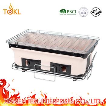 Mini Hibachi Kebab Yakiniku Portable Ceramic Tabletop BBQ Clay Charcoal Teppanyaki  Grill Japanese/Janpenes Table