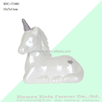 Personalized Unicorn Design Money Box Ceramic Piggy Bank Wholesale