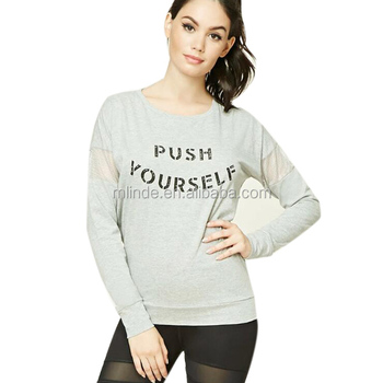 Active women t shirts long mesh sleeve gym wear shirt new pattern sports t  shirts for 1b992f222