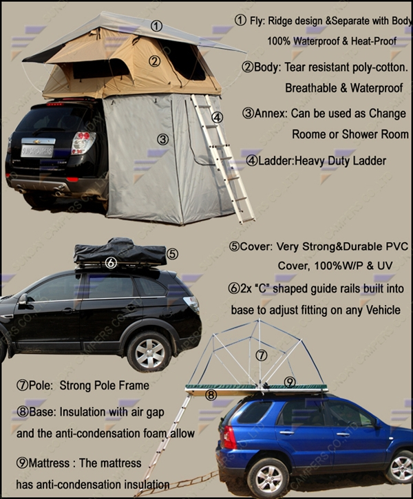 Top-rated Hard Shell Car Roof Top Tent Pop Up Rooftop Tent Car Roof Top & Top-rated Hard Shell Car Roof Top Tent Pop Up Rooftop Tent Car Roof ...