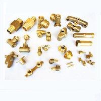 Customized 3D CAD Engineering High Demand CNC Machining Brass Casting Parts / Brass Turning Parts