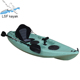 Single boat cheap plastic canoe kayak with prices luosaifei kayak brands