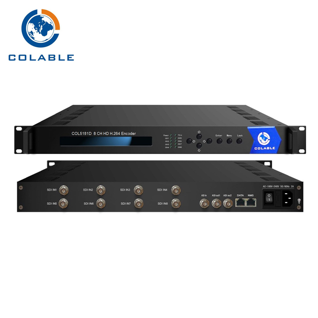 Digital Video Broadcast UDP 8 in 1 H.264 HD SDI asi di IP Encoder COL5181D