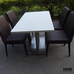 artificial marble top kitchen work dinner table