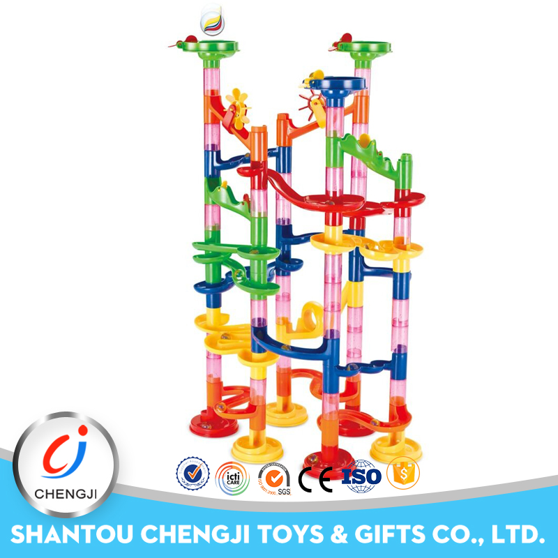 Wonderful building blocks educational plastic toy marble run for <strong>kids</strong>