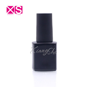Uv empty nail varnish bottles 6ml square gel polish container glossy black color